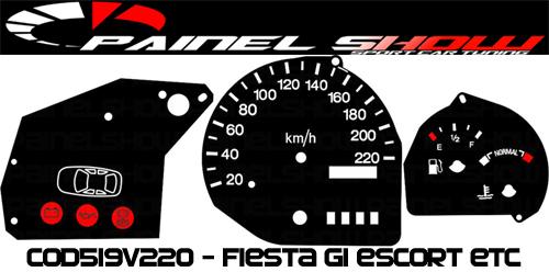Kit Translucido p/ Painel - Cod519v220 - Fiesta Escort com Desenho Carrinho  - PAINEL SHOW TUNING - Personalização de Painéis de Carros e Motos