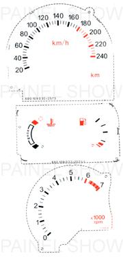 Adesivo p/ Painel - Cod79v240 - Escort  - PAINEL SHOW TUNING - Personalização de Painéis de Carros e Motos