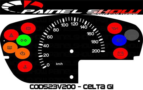 Kit Translúcido p/ Painel - Cod523v200 - Celta sem Contagiros  - PAINEL SHOW TUNING - Personalização de Painéis de Carros e Motos