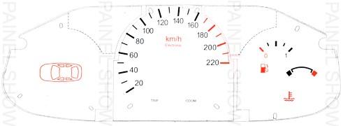 Adesivo p/ Painel - Cod82v220 - Fiesta / Courier  - PAINEL SHOW TUNING - Personalização de Painéis de Carros e Motos