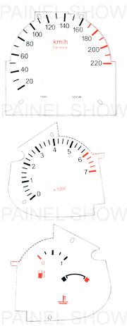 Adesivo p/ Painel - Cod83v220 - Fiesta / Courier  - PAINEL SHOW TUNING - Personalização de Painéis de Carros e Motos