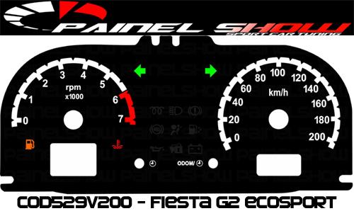 Kit Translúcido p/ Painel - Cod529v200 - Ecosport ou Fiesta  - PAINEL SHOW TUNING - Personalização de Painéis de Carros e Motos