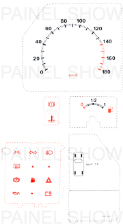 Adesivo p/ Painel - Cod89v180 - Uno / Fiorino  - PS TUNING