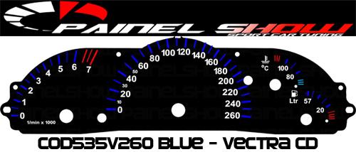 Kit Translúcido p/ Painel - Cod535v260 - Vectra 97ed  - PAINEL SHOW TUNING - Personalização de Painéis de Carros e Motos