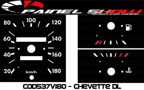 Kit Translúcido p/ Painel - Cod537v180 - Chevette DL SLE  - PAINEL SHOW TUNING - Personalização de Painéis de Carros e Motos
