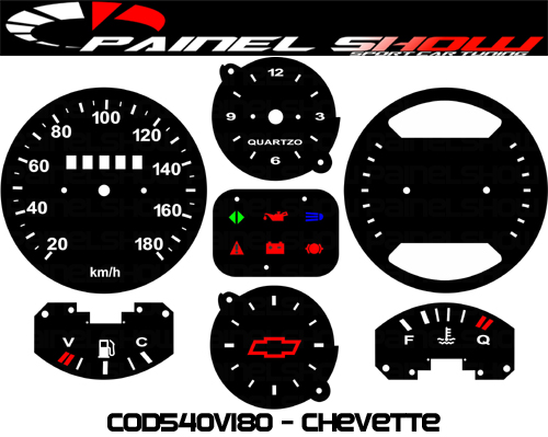 Kit Translúcido p/ Painel - Cod539v180 - Chevette Painel Horasa  - Loja - Painel Show Tuning