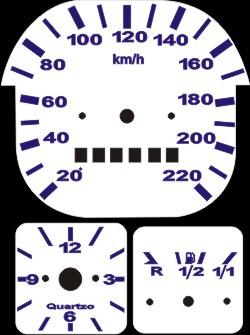 Kit Translúcido p/ Painel - Cod571v220 - Fusca acima de 1980  - PAINEL SHOW TUNING - Personalização de Painéis de Carros e Motos