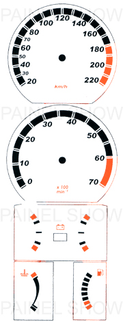 Kit Neon p/ Painel - Cod51v220 - Kadett  - PAINEL SHOW TUNING - Personalização de Painéis de Carros e Motos