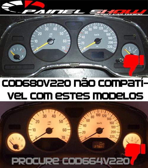 Kit Translucido p/ Painel - Cod602v220 - Astra Zafira até 2003 SS  - PAINEL SHOW TUNING - Personalização de Painéis de Carros e Motos