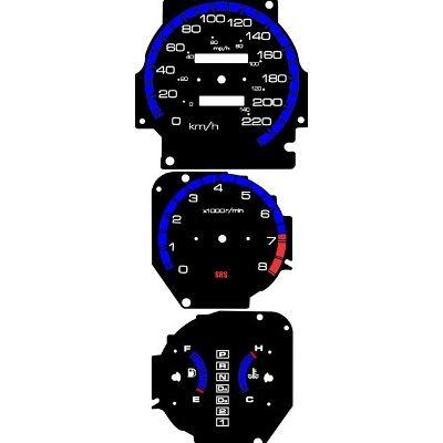 Kit Translúcido p/ Painel - Cod629v220 - Civic Antigo  - PAINEL SHOW TUNING - Personalização de Painéis de Carros e Motos