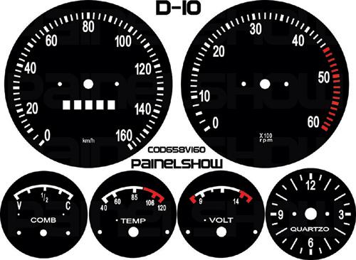 Kit Translucido p/ Painel - Cod658v160 - D10  - PAINEL SHOW TUNING - Personalização de Painéis de Carros e Motos