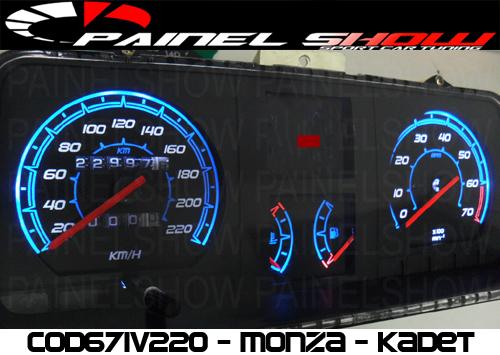 Kit Translúcido p/ Painel - Cod671v220 - Kadett com Contagiros  - PAINEL SHOW TUNING - Personalização de Painéis de Carros e Motos