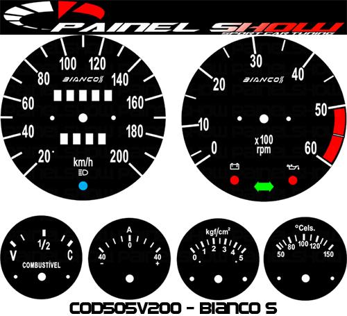 Kit Translúcido p/ Painel - Cod505v200 - Bianco S  - PAINEL SHOW TUNING - Personalização de Painéis de Carros e Motos