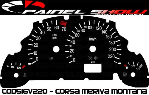 Kit Translúcido p/ Painel - Cod516v220 - Corsa - Meriva - Montana  - Loja - Painel Show Tuning
