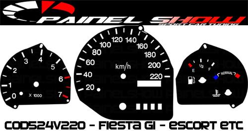 Kit Translúcido p/ Painel - Cod524v220 - Escort Courier Fiesta  - PAINEL SHOW TUNING - Personalização de Painéis de Carros e Motos