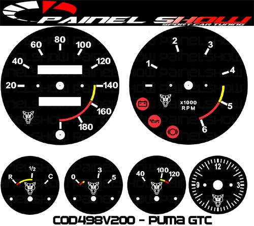 Kit Translúcido p/ Painel - Cod498v200 - Puma GTC  - PS TUNING