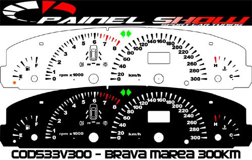 Kit Translúcido p/ Painel - Cod533v300 - Brava Marea Turbo Competition  - Loja - Painel Show Tuning