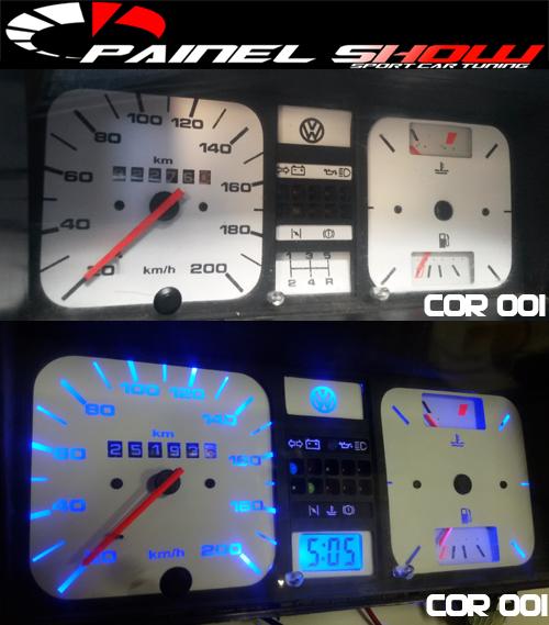 Kit Translucido p/ Painel - Cod543v220 VW - Gol Parati Santana Passat  - PAINEL SHOW TUNING - Personalização de Painéis de Carros e Motos