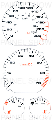 Kit Neon p/ Painel - Cod33v220 - Golf / Polo  - PAINEL SHOW TUNING - Personalização de Painéis de Carros e Motos