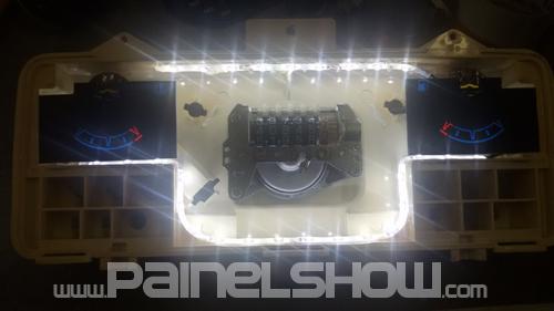 Monza Kadett Ipanema Cod553v220 Mostrador Tuning Translucido p/ Personalização de Painel - Show !   - PAINEL SHOW TUNING - Personalização de Painéis de Carros e Motos