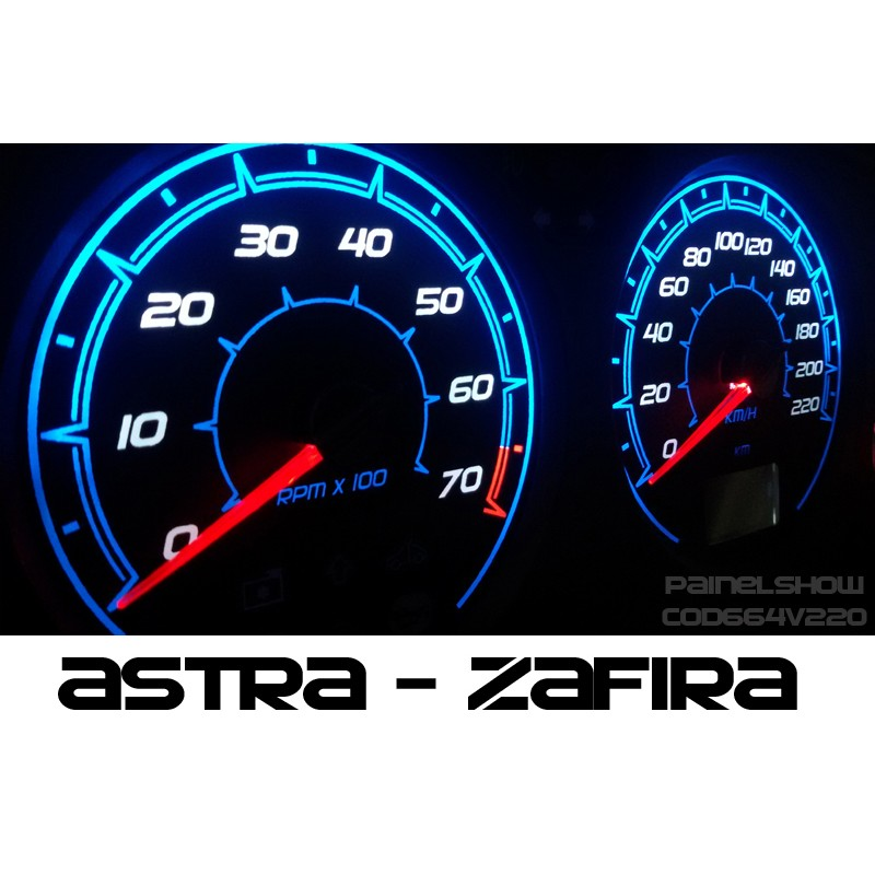 Kit Translucido p/ Painel - Cod664v220 - Astra Zafira de 2004 a 2013  - PAINEL SHOW TUNING - Personalização de Painéis de Carros e Motos