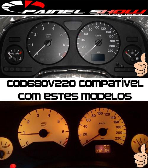 Kit Translucido p/ Painel - Cod680v220 - Astra Zafira de 1999 a 2003  - PAINEL SHOW TUNING - Personalização de Painéis de Carros e Motos