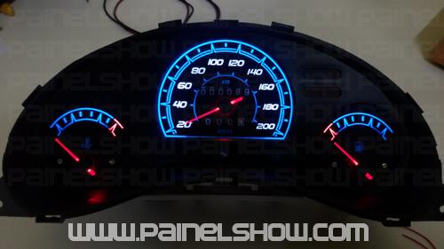 Corsa sem Contagiros Cod669v200 Mostrador Tuning Acetato Translucido p/ Personalização de Painel - Show !   - PAINEL SHOW TUNING - Personalização de Painéis de Carros e Motos