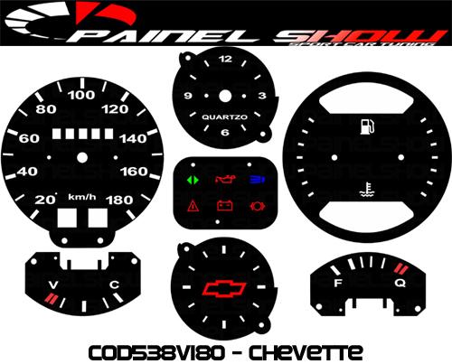 Kit Translúcido p/ Painel - Cod538v180 - Chevette Alcool  - PAINEL SHOW TUNING - Personalização de Painéis de Carros e Motos