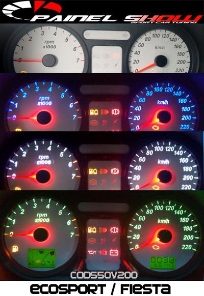 Kit Translúcido p/ Painel - Cod550v220 - Ecosport ou Fiesta  - PAINEL SHOW TUNING - Personalização de Painéis de Carros e Motos