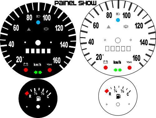 Kit Translúcido p/ Painel - Cod576v160 - Brasilia até 160km/h Horasa  - PAINEL SHOW TUNING - Personalização de Painéis de Carros e Motos