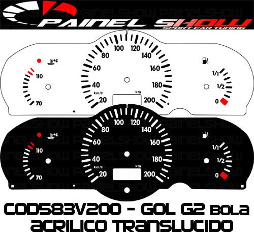 Kit Translucido p/ Painel - Cod583v200 - Gol Parati Saveiro Bola G2  - PAINEL SHOW TUNING - Personalização de Painéis de Carros e Motos