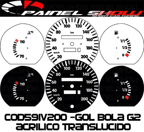Kit Translúcido p/ Painel - Cod591v200 - Gol Bola 95 / 96  - PAINEL SHOW TUNING - Personalização de Painéis de Carros e Motos