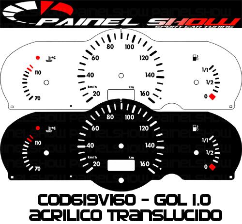 Kit Translucido p/ Painel - Cod619v160 - Gol G2 Bola 1.0  - PAINEL SHOW TUNING - Personalização de Painéis de Carros e Motos