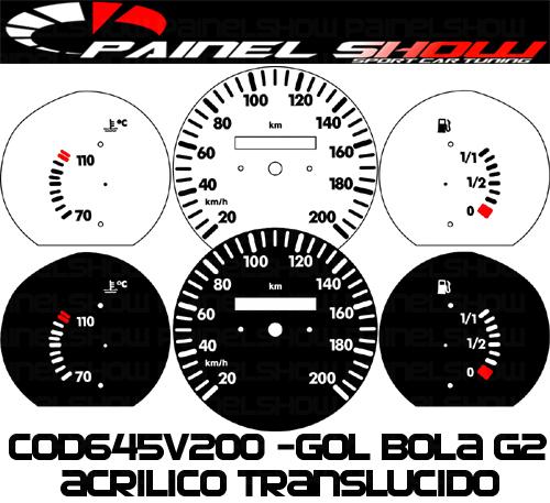 Kit Translúcido p/ Painel - Cod645v200 - Gol Bola 95 ou 96  - PAINEL SHOW TUNING - Personalização de Painéis de Carros e Motos