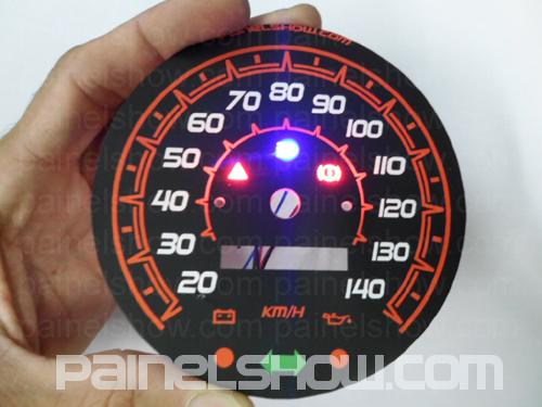 Kit Translucido p/ Painel - Cod653v140 - Fusca 140km/h Todos - Lançamento !!!  - PAINEL SHOW TUNING - Personalização de Painéis de Carros e Motos