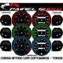 Corsa Antigo com Contagiros Cod682v220 Mostrador Tuning Acetato Translucido p/ Personalização de Painel - Show !