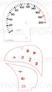 Kit Neon p/ Painel - Cod48v200 - Celta até 2006  - PAINEL SHOW TUNING - Personalização de Painéis de Carros e Motos
