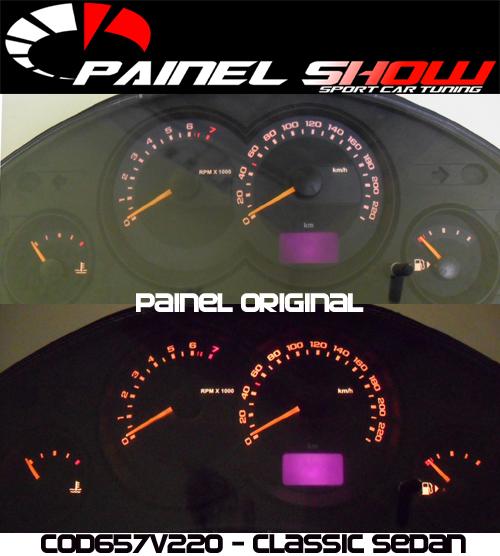 Corsa Classic Sedan 2008 Ed Cod657v220 Mostrador Tuning Acetato Translucido p/ Personalização de Painel - Show !   - PS TUNING