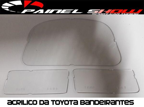 Acrilico Lente de Proteção p/ Painel da Toyota Bandeirantes  - PAINEL SHOW TUNING - Personalização de Painéis de Carros e Motos