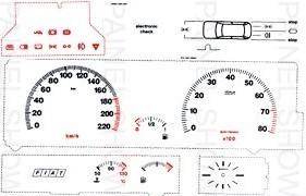 Adesivo Neon p/ Painel - Cod123v220 -Tipo 2.0 8V  - PAINEL SHOW TUNING - Personalização de Painéis de Carros e Motos