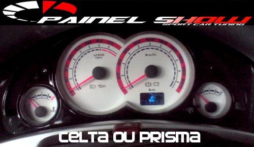 Acetato Translucido Cod601v200 - Celta Prisma SS 200km Hodometro digital  - PAINEL SHOW TUNING - Personalização de Painéis de Carros e Motos