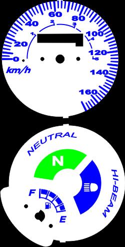 Kit Translúcido p/ Painel - Cod423v170 - CG150 KS / FAN150 Modelo 170 km/h  - PAINEL SHOW TUNING - Personalização de Painéis de Carros e Motos