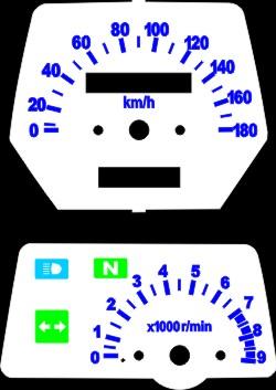 Kit Acrilico p/ Painel - Cod428v180 - XT600 XT 600 Tenere  - PAINEL SHOW TUNING - Personalização de Painéis de Carros e Motos