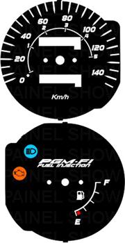 Kit Acrilico p/ Painel - Cod435v140 - CG injeção eletronica ou MIX  - PAINEL SHOW TUNING - Personalização de Painéis de Carros e Motos