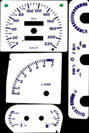 Kit Translúcido p/ Painel - Cod585v220 - Escort Xr3 Apollo Verona  - PAINEL SHOW TUNING - Personalização de Painéis de Carros e Motos