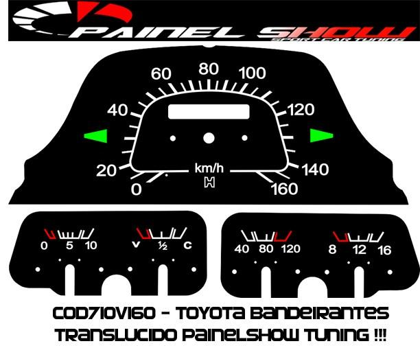 Kit Translúcido p/ Painel - Cod710v160 - Toyota Bandeirantes  - PAINEL SHOW TUNING - Personalização de Painéis de Carros e Motos