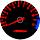 Cor 122 Fundo Preto - Nº Vermelho - Detalhe Azul