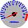 Cor 254 Fundo Prata - Nº Azul - Detalhe Vermelho