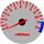 Cor 243 Fundo Prata - Nº Vermelho - Detalhe Azul