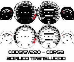 Kit Translúcido p/ Painel - Cod515v220 - Corsa com Contagiros  - PAINEL SHOW TUNING - Personalização de Painéis de Carros e Motos